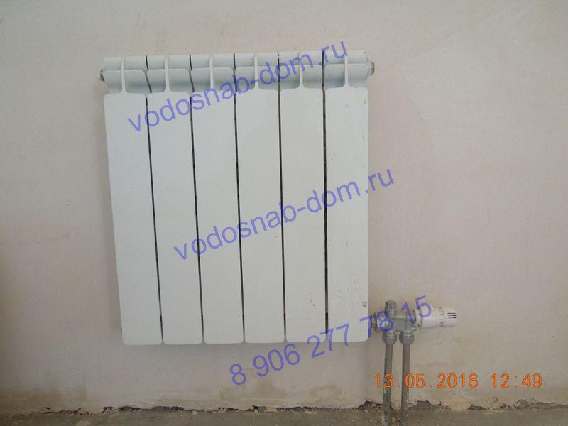 установить радиаторы на даче цена