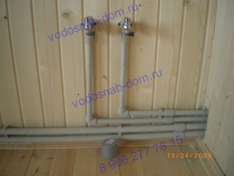 отопление водопровод в загородном доме цена