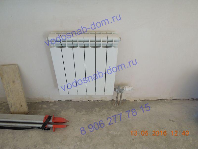 провести водяное отопление частного дома цена