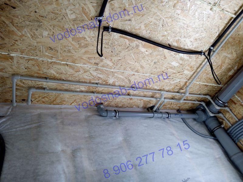 канализация и водоснабжение в коттедже под ключ