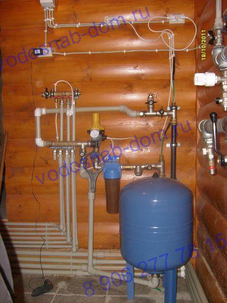 водопровод в загородном доме под ключ цена