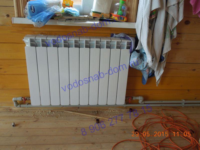 монтаж радиаторов в частном доме цена
